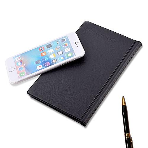 MaxGear Business Book Holder, Journal Organizer, Professional Leather Name Office - Hold Black