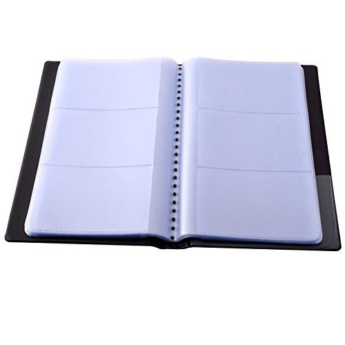 MaxGear Holder, Organizer, Professional PU Leather Name Book Office Business Card - 240 Black