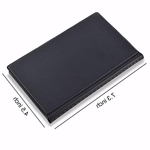 MaxGear Card Holder, Journal Business Name Book Office Business Card - 240 Black