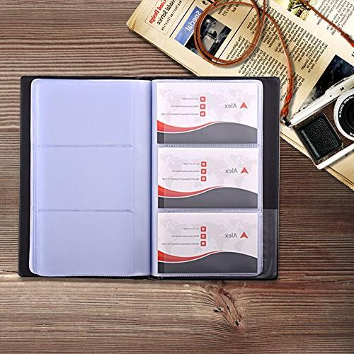 MaxGear Business Holder, Business Organizer, Professional Leather Office - Hold Cards Black