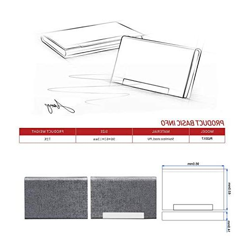 Business Card Business Card PU Leather Steel Men and with Magnetic Keep Cards