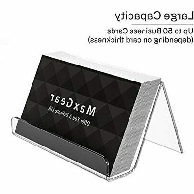 Business Holder For Desk Acrylic Display Clear Cards Stand 3 Pack