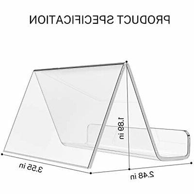 Business Desk Acrylic Clear Cards Stand Pack