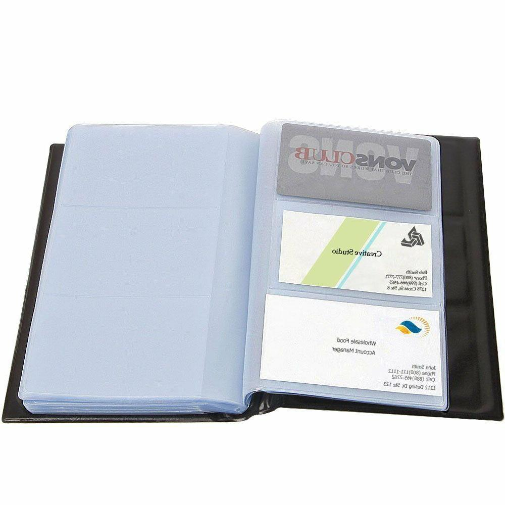 business card holder holds 300 cards pu