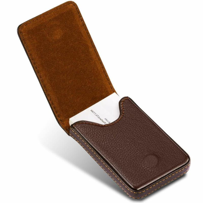 business card holder premium pu leather business