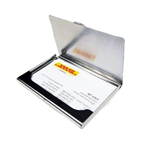 Business Card Portable Business Card Case Silver Pack of