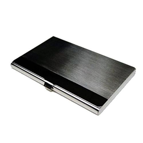 Business WOVTE Portable Steel Metal Business Name Card Credit Card Silver