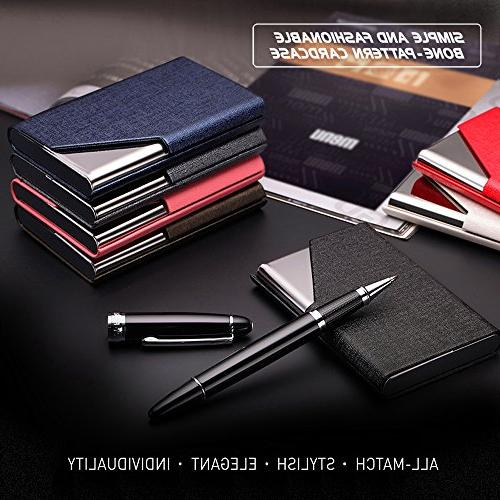Business Name Luxury Stainless Case,Business Name Wallet Credit Card ID Case/Holder & Women - Keep Business