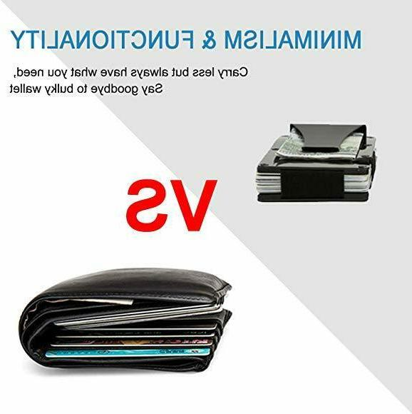 Carbon Credit Card Clip Men Stainless Steel Wallet