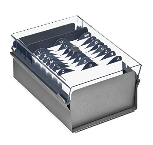 card file holder gray