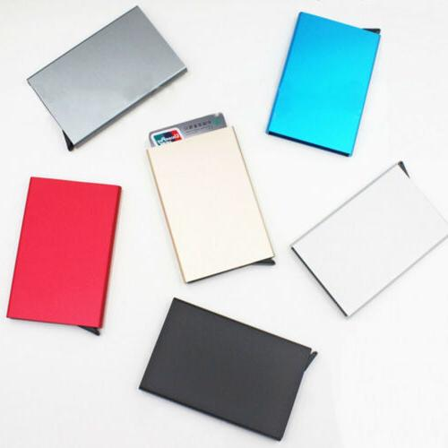 Card Holder Stainless Aluminium Credit Case Wallets ID Card Box