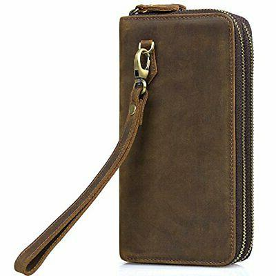 jack and amp chris leather wallet double