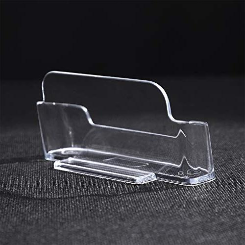 MaxGear Clear Card Holder Business Card Business Card Desk Business Cards, 6