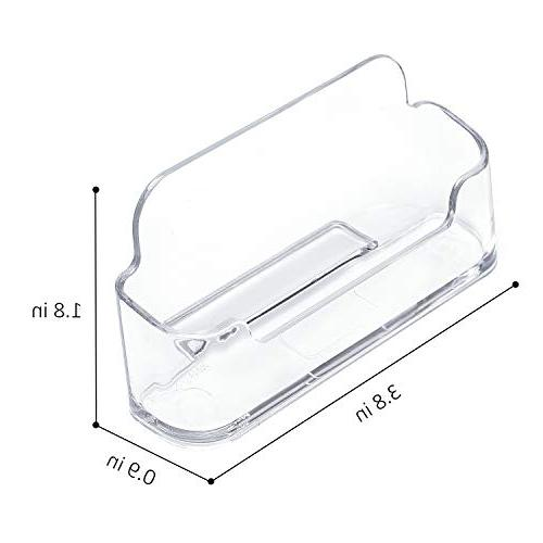 MaxGear Clear Acrylic Card Office Business Card Desk Holder, Fits 30-50 Business Cards,