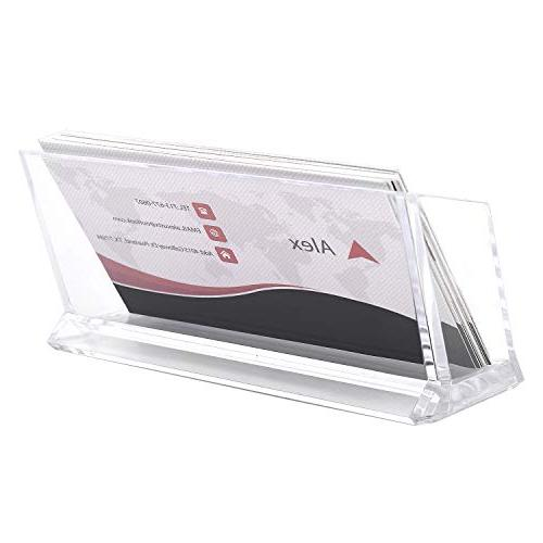 MaxGear Clear Stand Plastic Business Single Compartment, Fits Cards 4