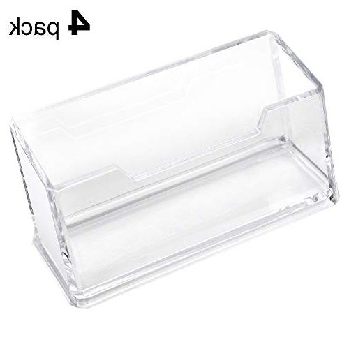 MaxGear Holder Acrylic Business Card Stand for Desk Business Compartment, Fits 50-60 Business Cards