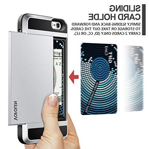 Vofolen Cover for 6S Case Wallet Rugged Bumper Anti-Scratch Cover Card iPhone