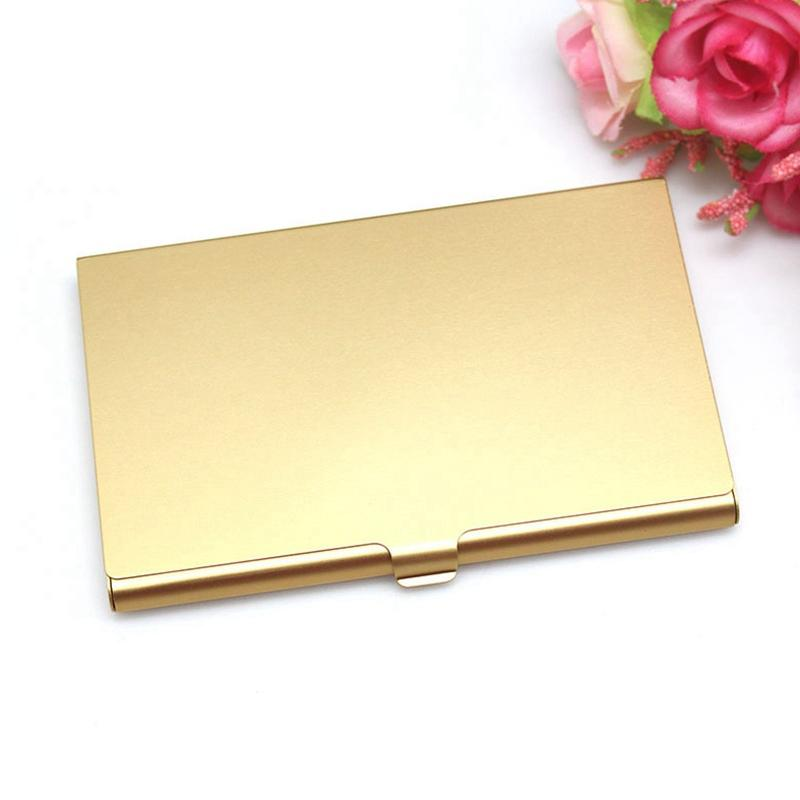 Creative Casual <font><b>Card</b></font> Case Stainless <font><b>Holder</b></font> Metal Box Cover <font><b>Holder</b></font> Metal