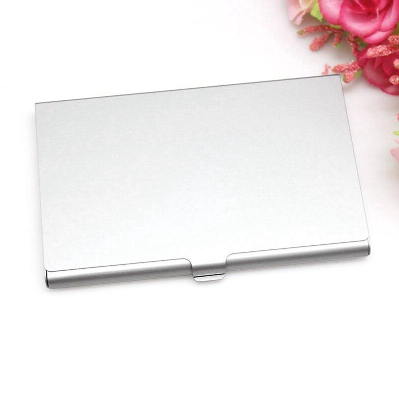 Creative Casual Business Case Stainless Steel Aluminum <font><b>Holder</b></font> Cover