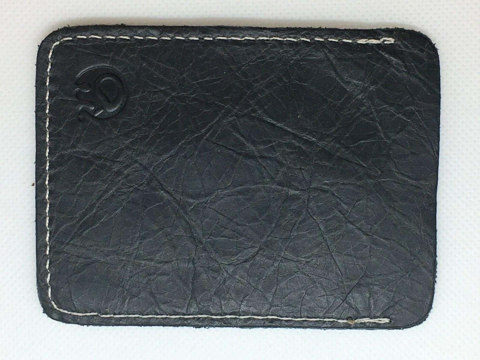 credit card and id holder wallet black