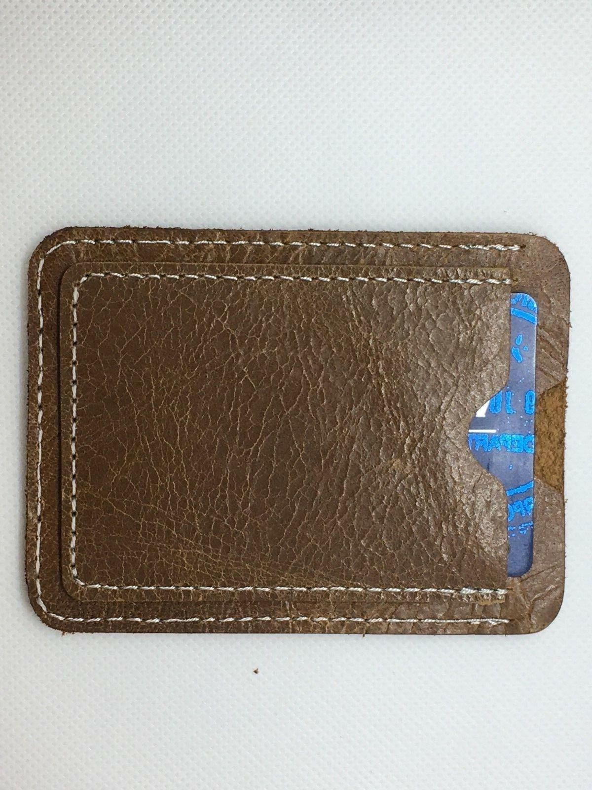 Credit Card Holder Wallet Brown thin- space