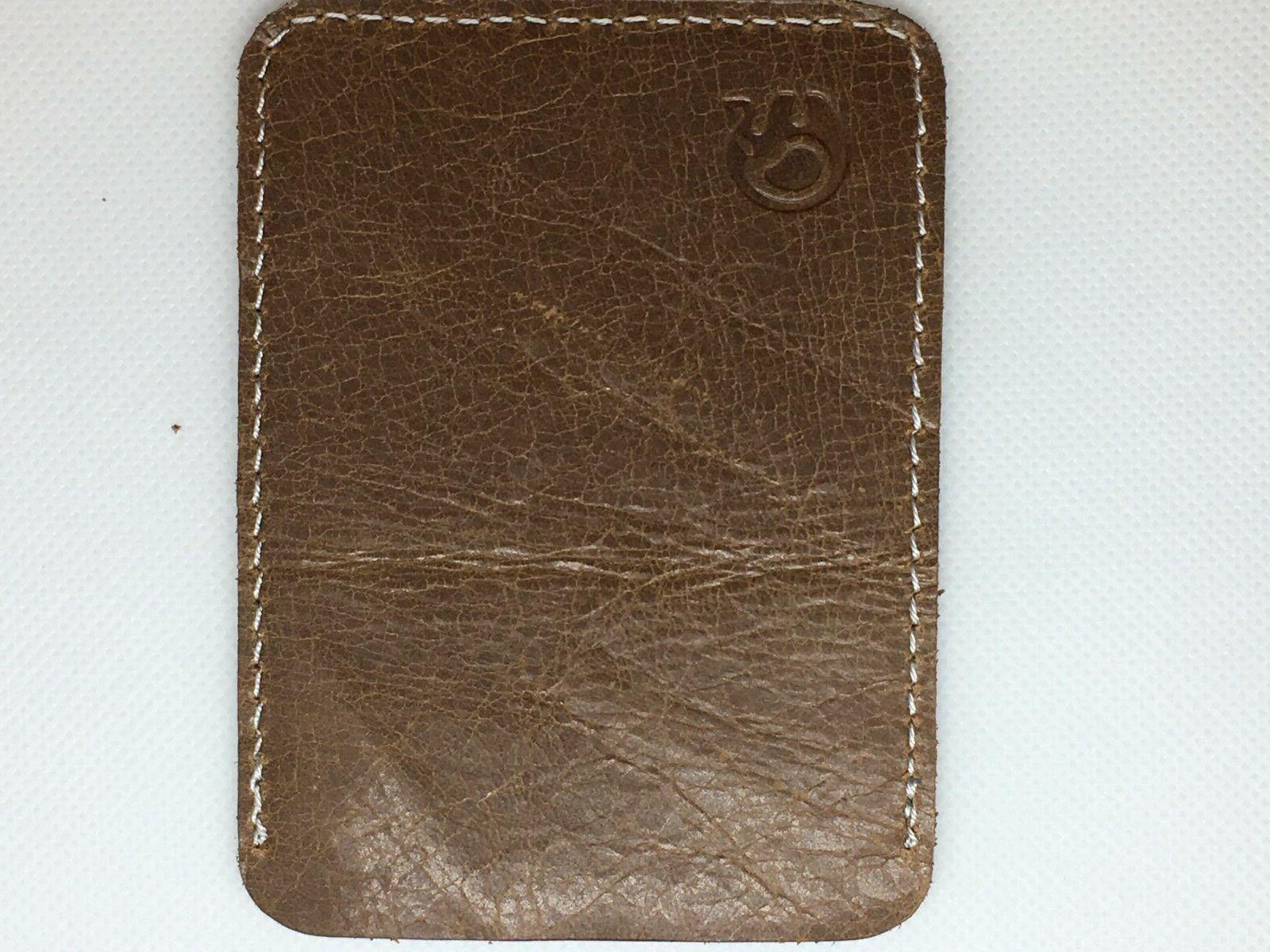 Credit Card & Holder Brown Color - suede flat thin- space