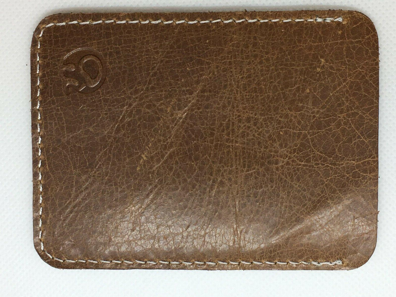credit card and id holder wallet brown