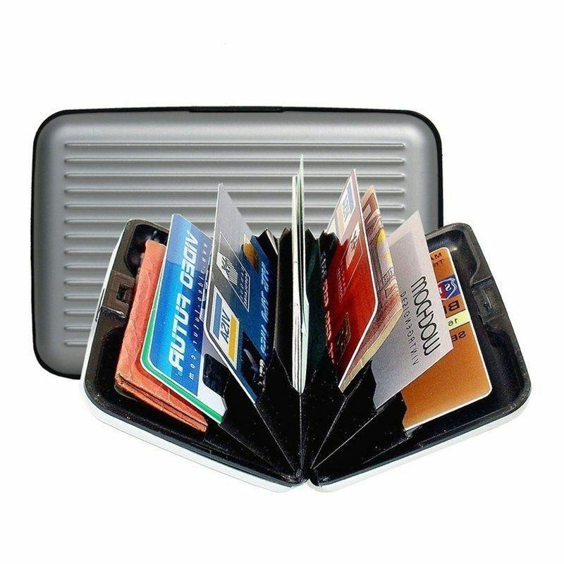 DEEZOMO RFID Blocking Genuine Leather Credit Card Holder Fro