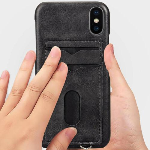 Credit Card Hard Case For iPhone XS X 8 7 6s