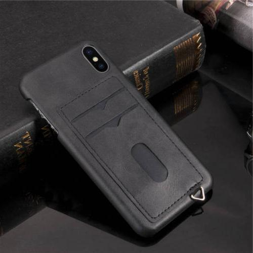 Credit Hard Cover For iPhone Max X 8 7 6 6s Plus