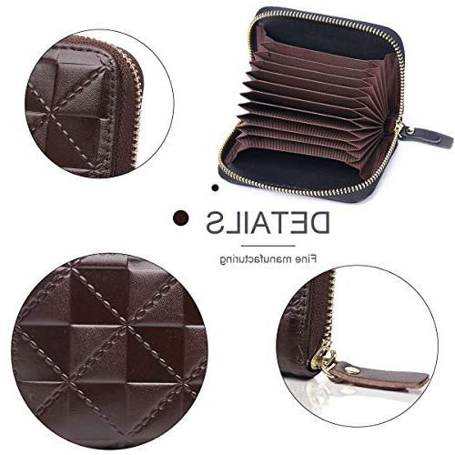 APHISON Credit Security Wallet Leather for Women with for Ladies 7112