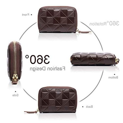 APHISON Card Security Leather for Women for Girls/Gift Box 7112
