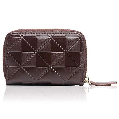 credit card holder security travel wallet leather