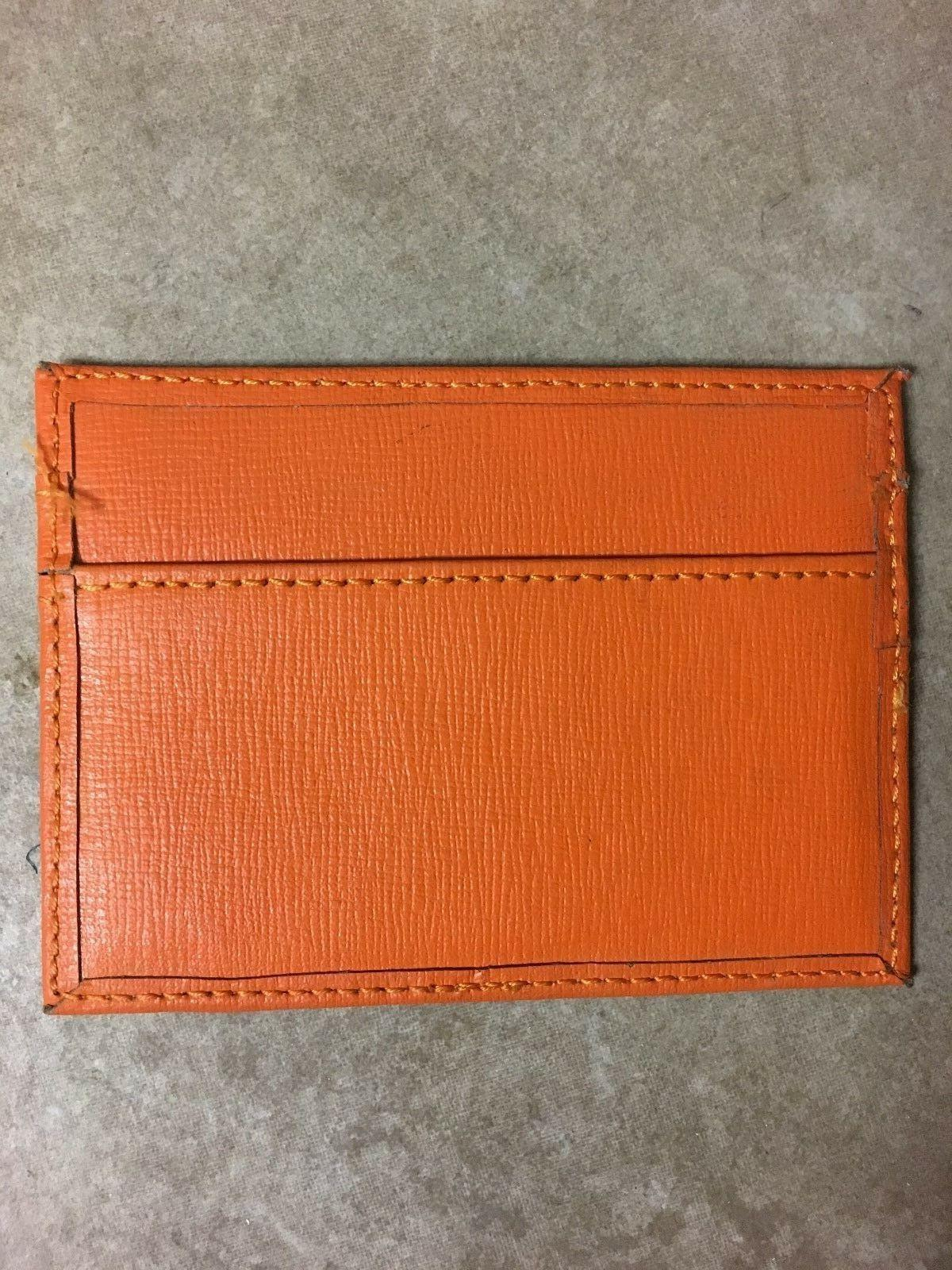 Credit Card Holder Orange Color- Thin not bulky