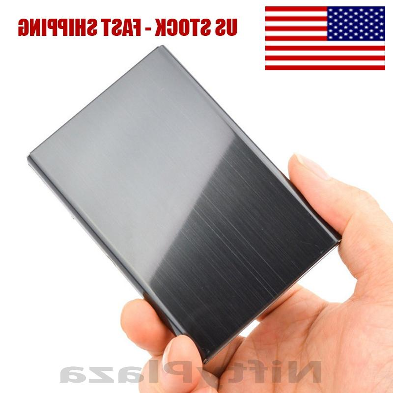RFID Blocking Credit Card ID Holder Slim Money Men Travel Wa
