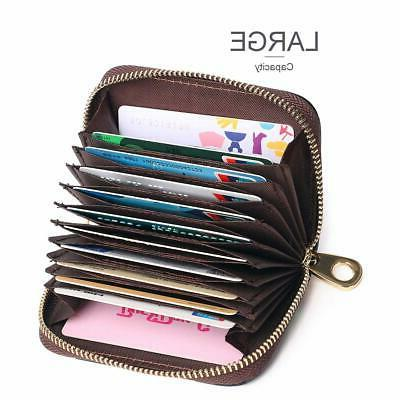 APHISON RFID Credit Card Leather Case for