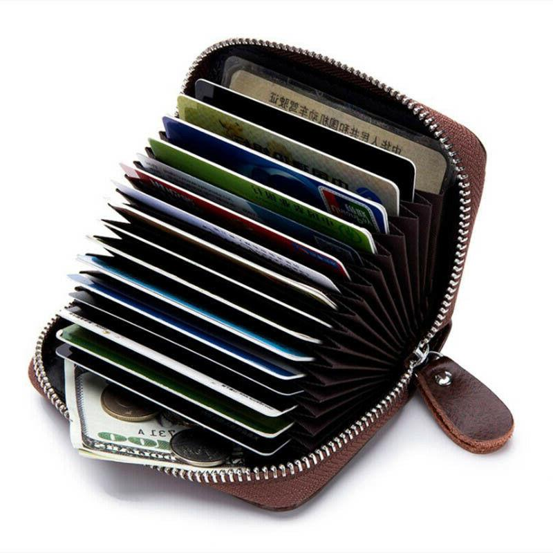 Men Women Wallet Blocking Zipper Thin Pocket US