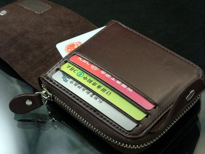 Fashion Short Wallet for Man with Zipper Hasp Leather Men Purse Male Card