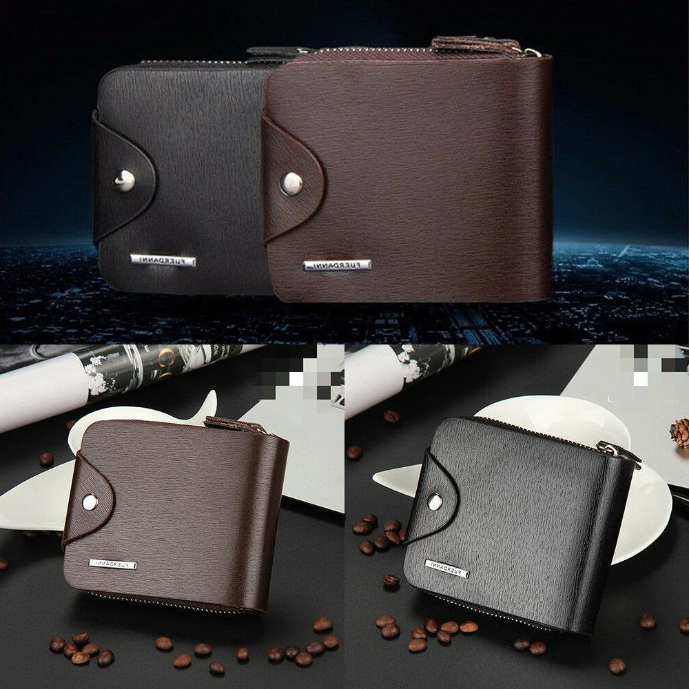 fashion short wallet for man with zipper