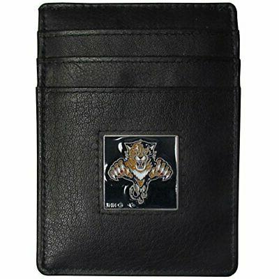 florida panthers leather money clip