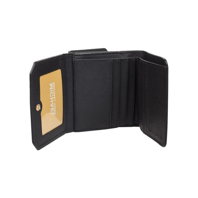 <font><b>Michael</b></font> <font><b>Kors</b></font> Black Pebble Leather Coin Case wallet