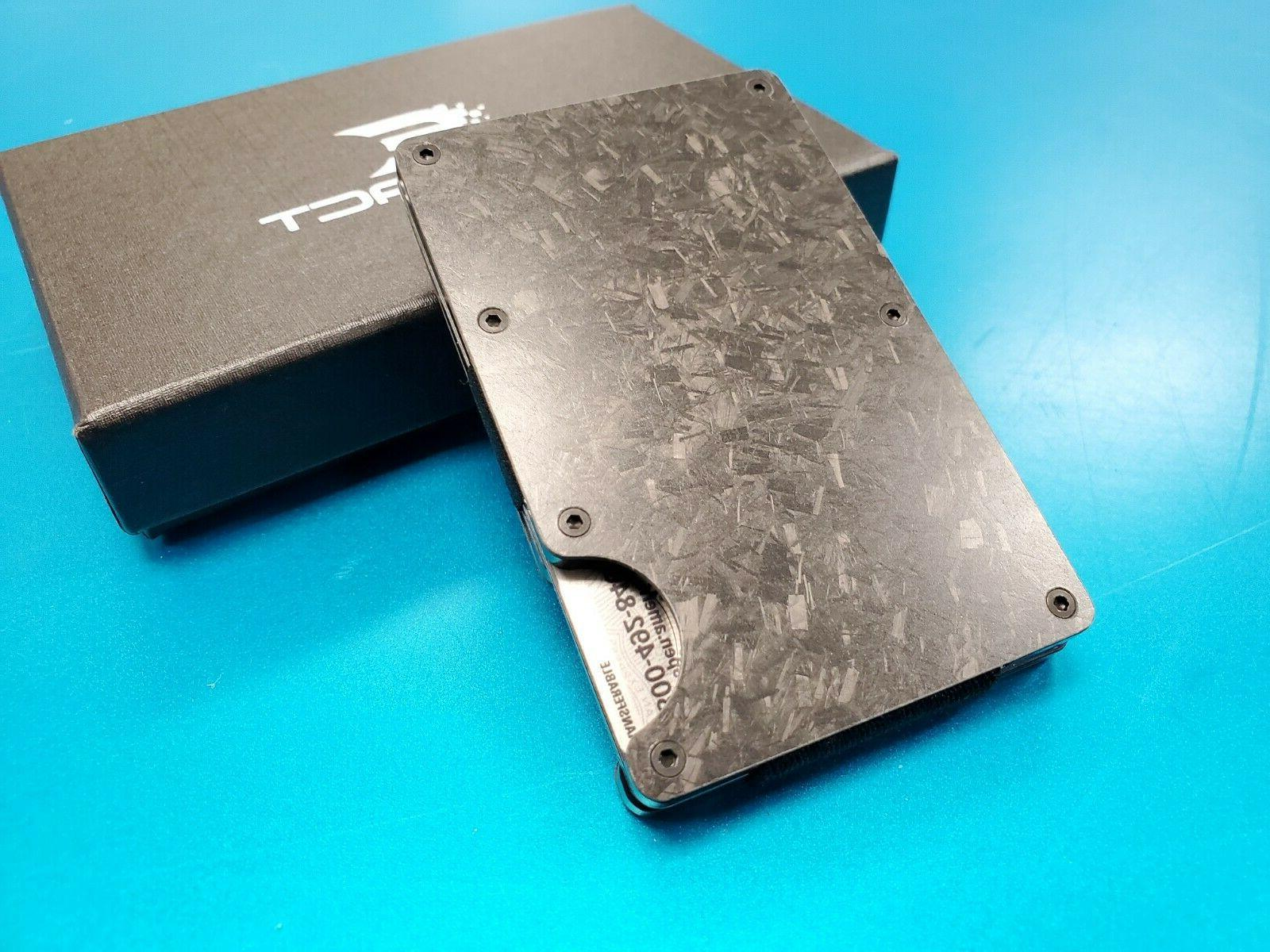 Exenact Forged Carbon Wallet Blocking Card Holder
