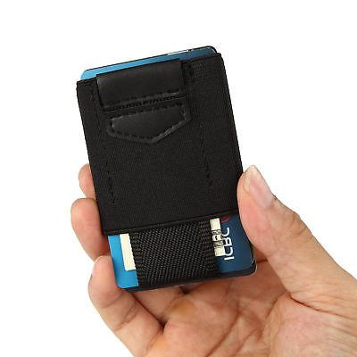 Front Pocket Slim Wallet 15 Card Holders for Coins Keys