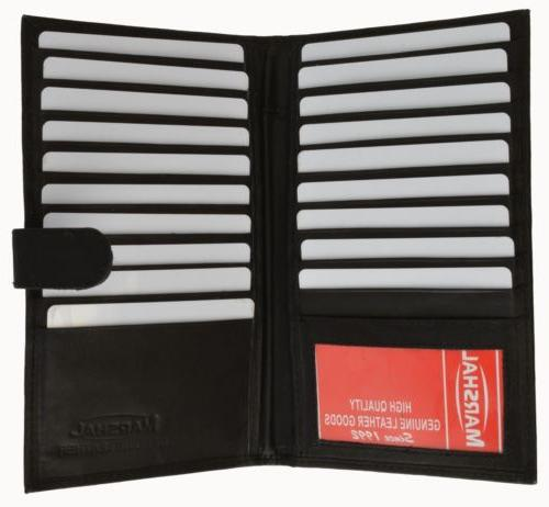 Genuine Card Holder Wallet Slots Window Snap
