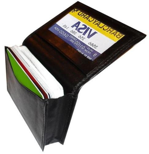 Genuine Leather Expandable Credit Card Card Holder