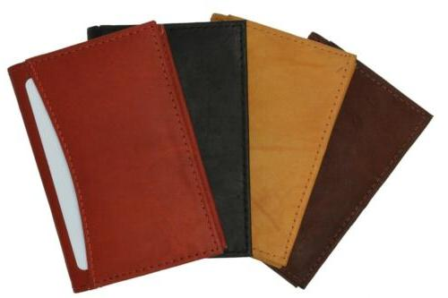 Genuine Leather Expandable Card ID Holder New Colors