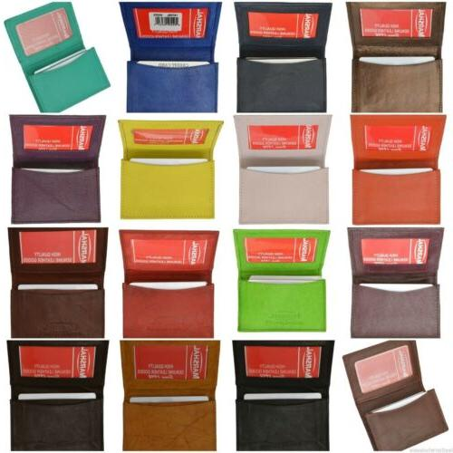 genuine leather expandable credit card id business
