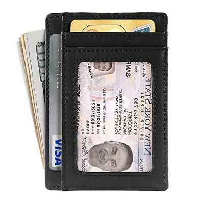 Genuine Leather Holder For - Minimalist RFID 2019