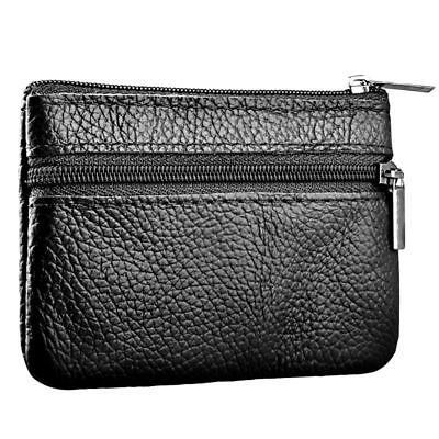 Zodaca Genuine Leather Wallet Coin Bag, Black