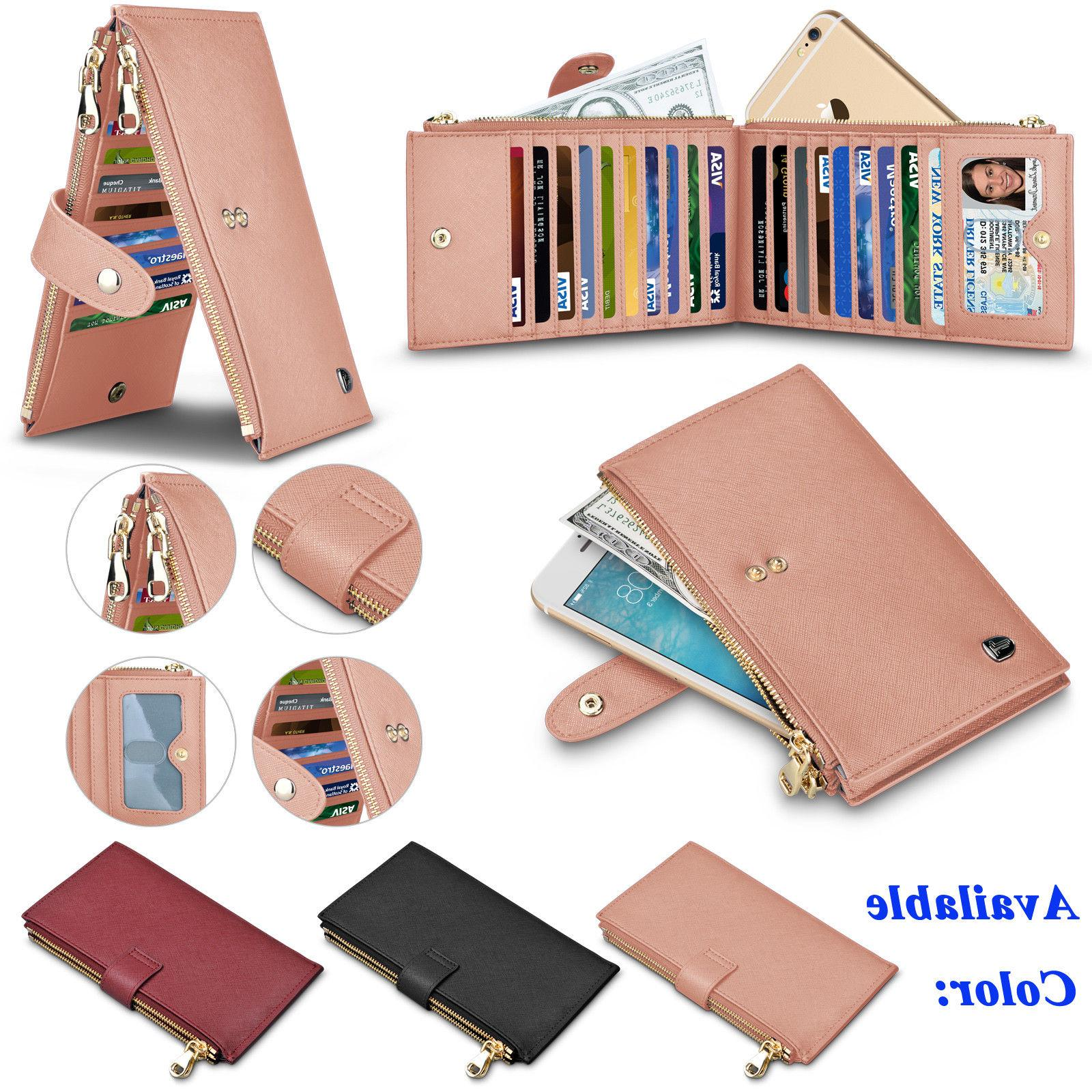 genuine leather women wallet with credit card